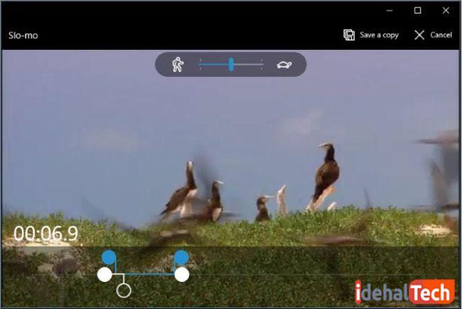 سرعت پخش بخشی از فیلم را کم کنید