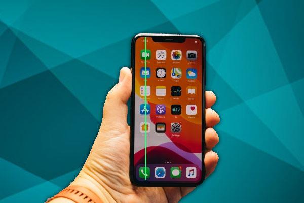 خط سبز روی صفحه نمایشگر گوشی ایفون x و سامسونگ S8