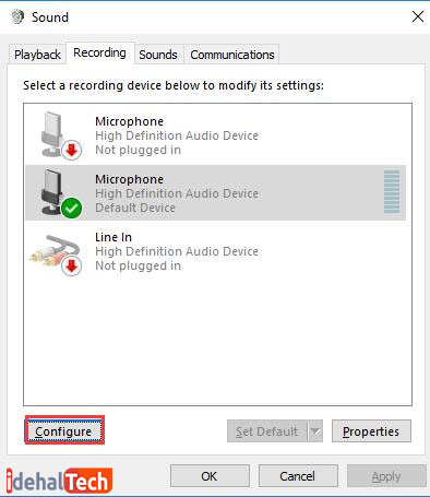 Recording-Device-را-برای-قطع-صدا-بررسی-کنید