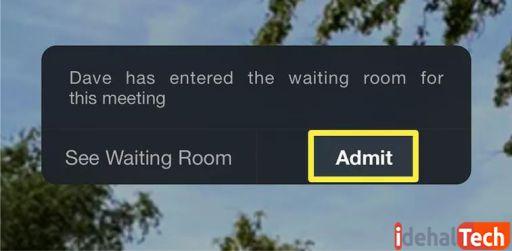 روی admit ضربه بزنید