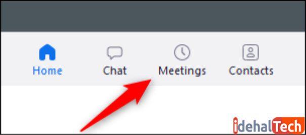 روی meeting کلیک کنید