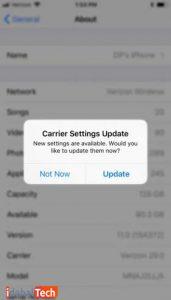 بروزرسانی-تنظیمات-Carrier-را-بررسی-کنید