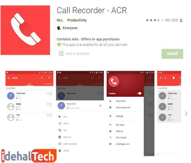 برنامه ضبط مکالمه ACR