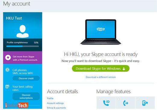 کاربری شما در اسکایپ ساخته شد