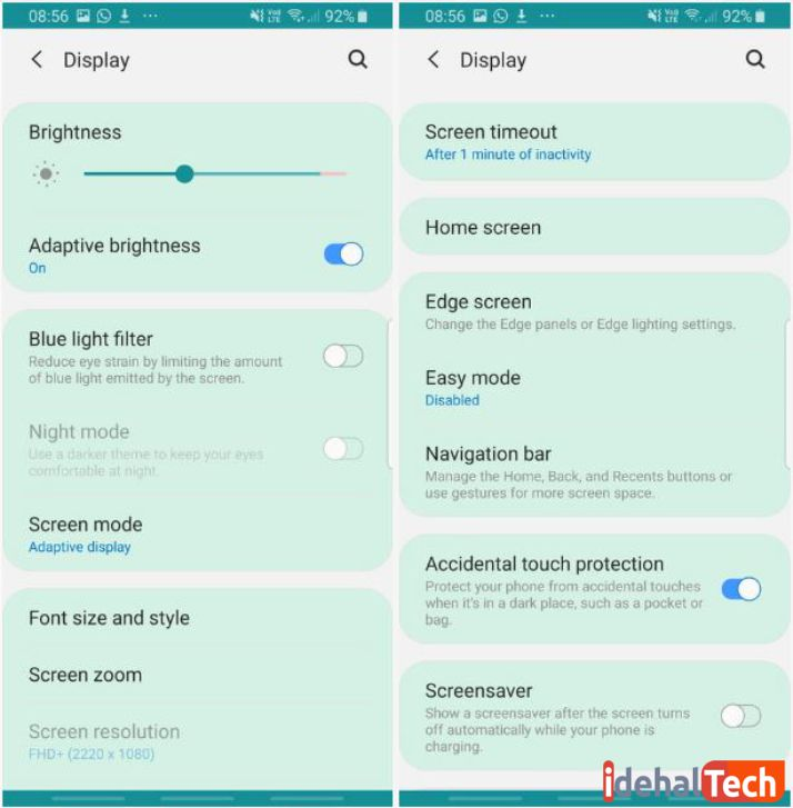 کاهش نور صفحه نمایش برای بهینه سازی باتری موبایل