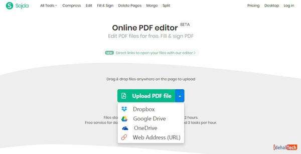 انتخاب دکمه Upload PDF file