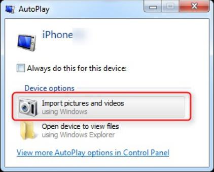 انتقال پرونده ها به کامپیوتر از طریق windows autoplay