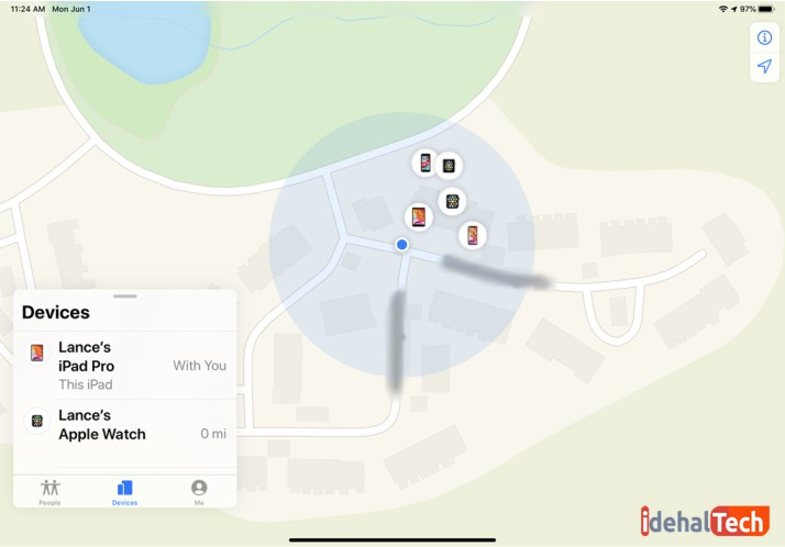 پیدا کردن آیفون گمشده بر روی map