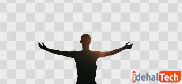 عکس بدون پس زمینه را ذخیره کنید.