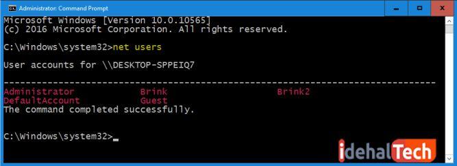 تغییر رمز ویندوز 10 با خط فرمان