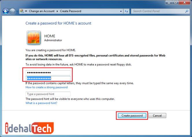 رمز عبور وارد شده را دوباره تایید کنید
