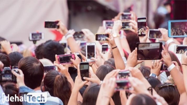 گرفتن عکس با دوربین موبایل