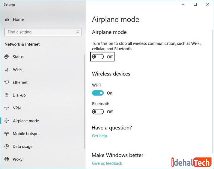 فعال کردن حالت هواپیما برای افزایش طول عمر باتری لپ تاپ