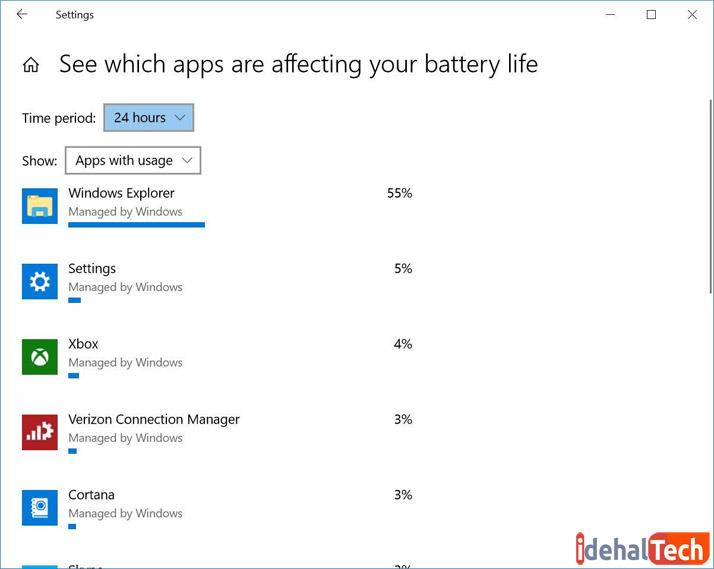 بستن نرم افزارهای مصرف کننده باتری لپ تاپ