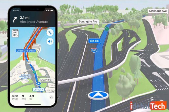 آپدیت نقشه های اپل