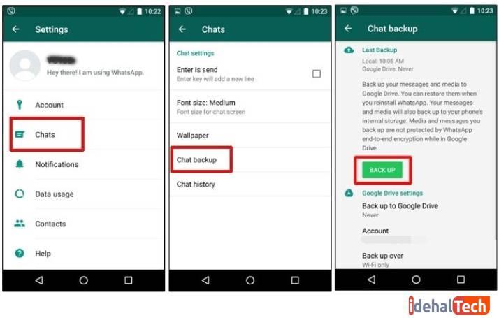 بک آپ گرفتن واتساپ و انتقال پیامهای واتساپ به گوشی جدید
