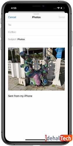 ارسال تکی عکس و فیلم با ایمیل