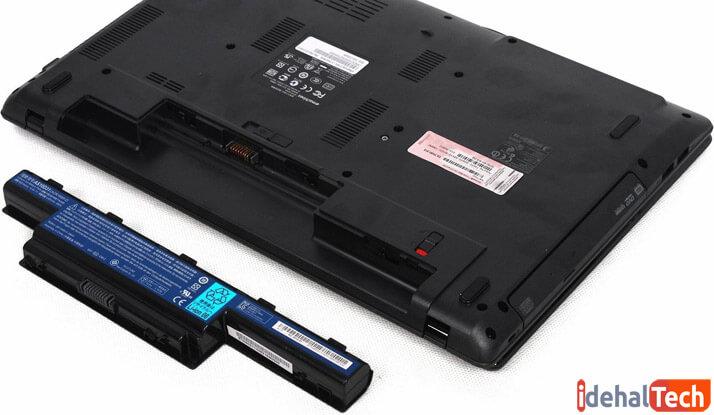 نحوه جدا کردن باتری لپ تاپ از بدنه