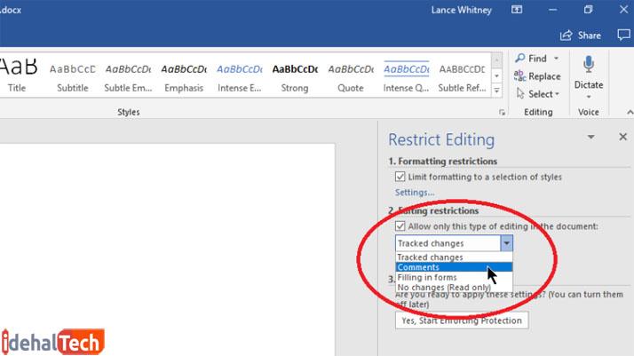اعمال محدودیتهای ویرایشی در آفیس- آموزش رمز گذاشتن روی فرمت doc