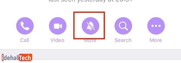 گزینه «Mute»
