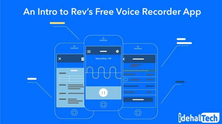 برنامه ضبط صدای Rev Voice Recorder