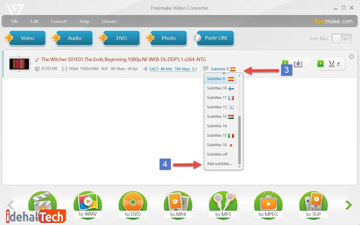 آموزش Freemake Video Converter مرحله 2