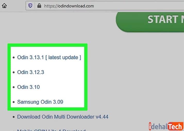 نصب برنامه اودین 3 برای حذف روت گوشی