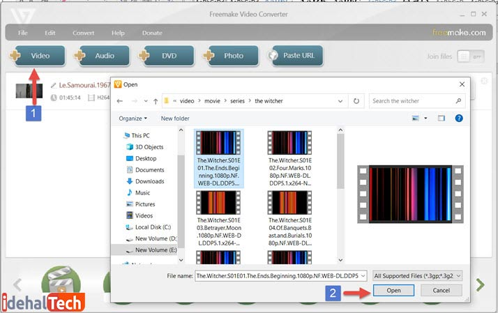 آموزش چسباندن زیرنویس به فیلم با استفاده از نرم افزار Freemake Video Converter