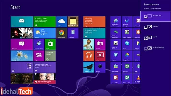 تنظیمات اتصال لپ تاپ به ویدیو پروژکتور
