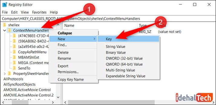 اضافه کردن move to و copy to به راست کلیک