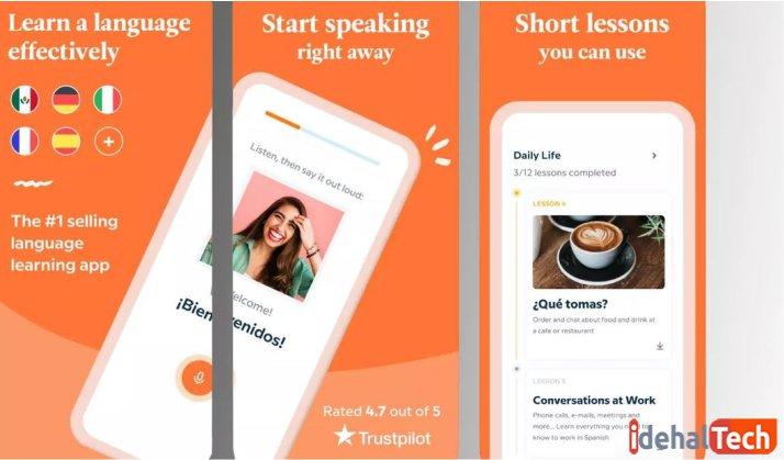 اپلیکیشن یادگیری زبان انگلیسی babbel