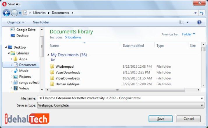 خواندن آفلاین صفحات وب در کامپیوتر