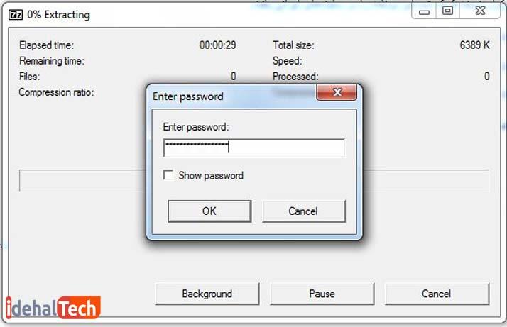 آموزش تکه تکه کردن فایل با winrarـ راهنمای نصب برنامه ـ مرحله3
