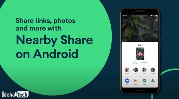 فایلهای قابل انتقال به کمک nearby share