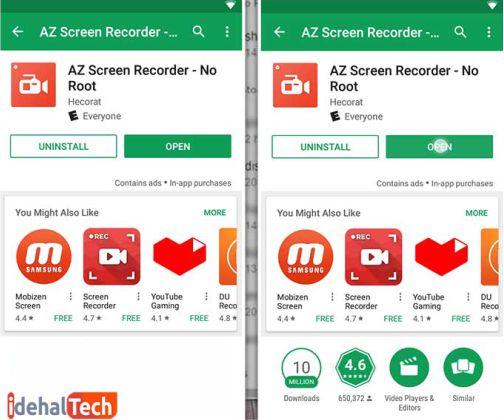 اپلیکیشن Az screen recorder