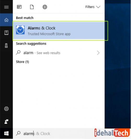آیکون alarm&clock برای تنظیم آلارم در ویندوز 10