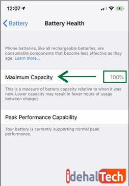 ظرفیت باقیمانده باتری