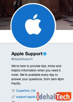 درخواست از پشتیبانی اپل