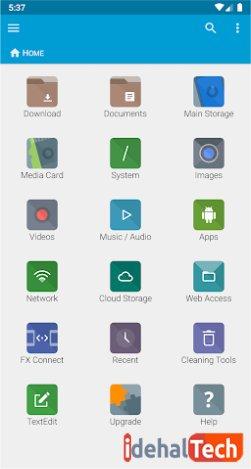 اپلیکیشن مدیریت فایل es file explorer