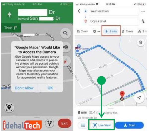 حالت های مختلف در google map