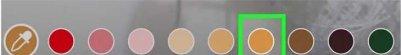 انتخاب رنگ برای ایجاد پس زمینه رنگی در استوری