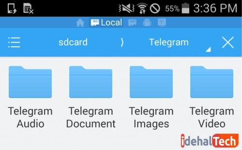 فایل های دانلود شده در تلگرام