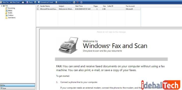 ارسال فکس در ویندوز