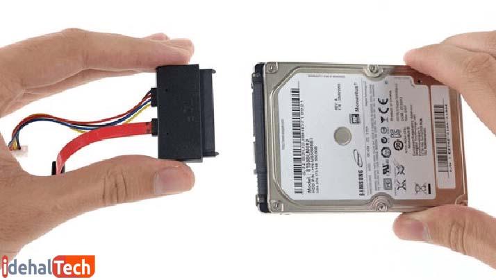 بررسی اتصالات هارد دیسک