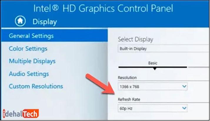 Graphics Control Panel