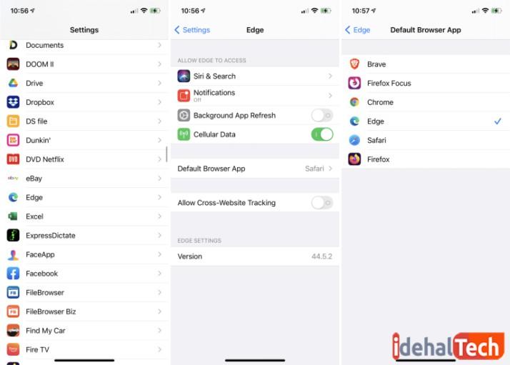 تغییر مرورگر در iOS