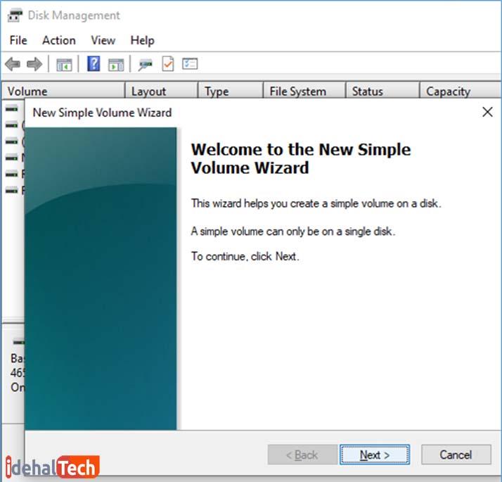disk manager-new simple volume2.بازیابی اطلاعات