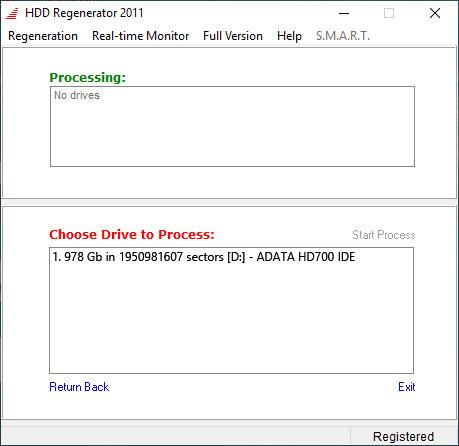 نرم افزار HDD Regenerator