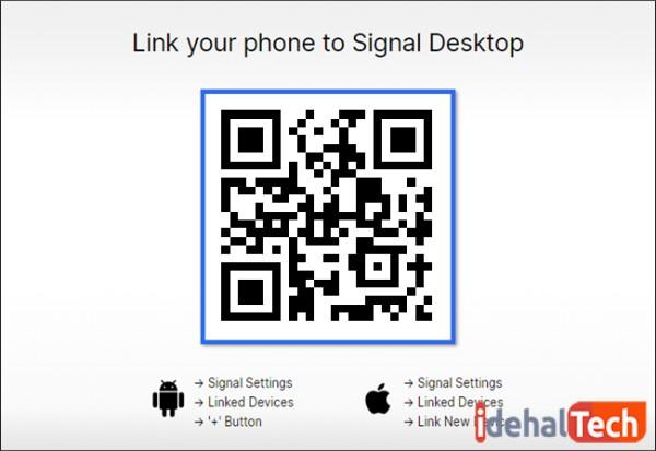 اتصال نسخه کامپیوتر و تلفن همراه سیگنال