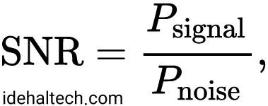 فرمول محاسبه SNR